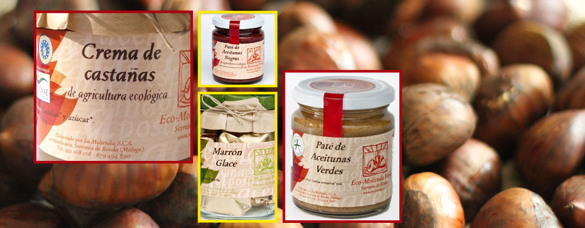 Products made from Chesnuts, pates and jams.