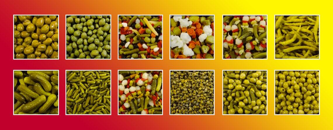 Olives, pickles and varied